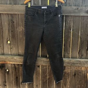 LOFT Distressed Black Jeans